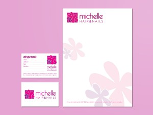 Michelle Hair & Nails huisstijl/logo