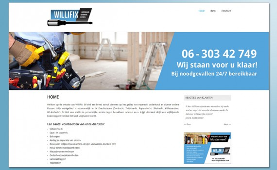 WilliFix website
